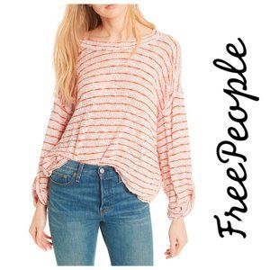NEW Free People Island Girl Hacci Stripe Tee